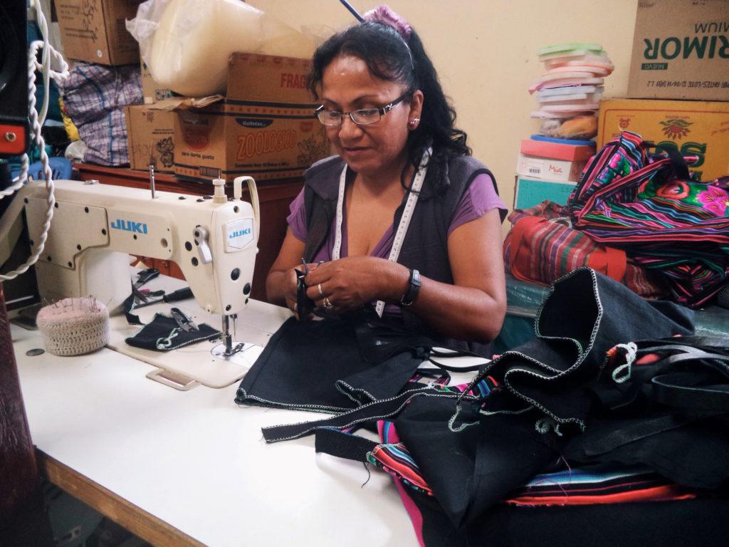 Gladys sewing