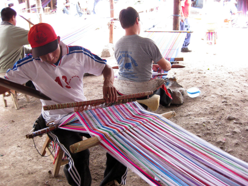 Weaving Back strap loom