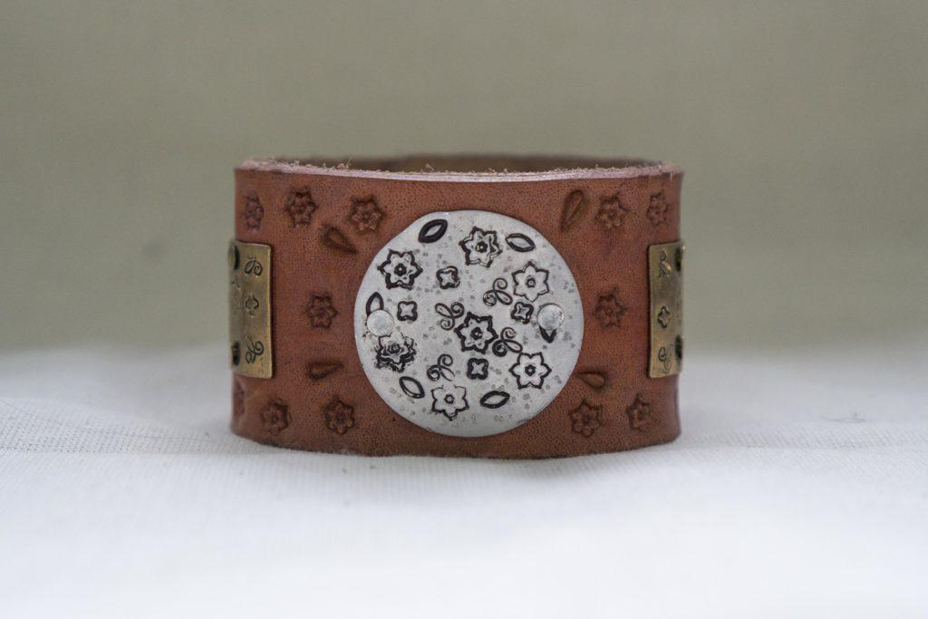 Leather Stamped Cuff-2