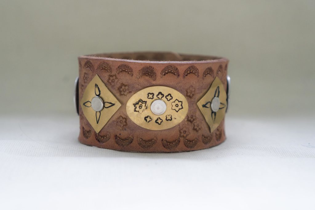 Leather Stamped Cuff